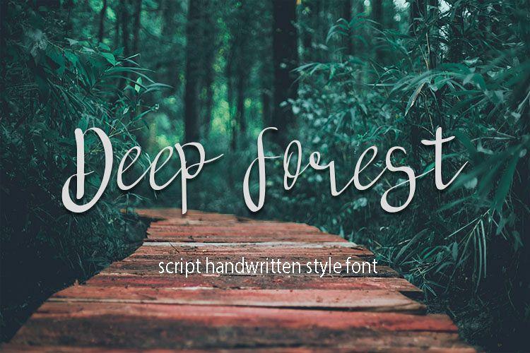 deep forest script handwritten font example image 1