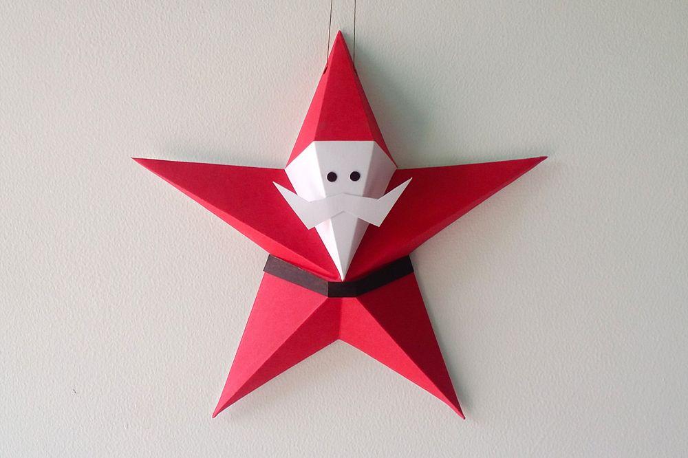 DIY Star Santa Claus - 3d papercraft example image 1