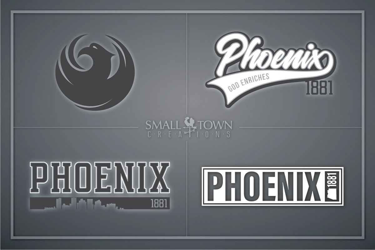 Phoenix, God Enriches - slogan, Arizona, PRINT, CUT & DESIGN example image 1