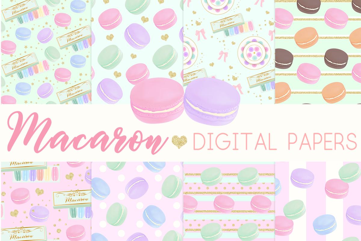 Macaron Digital Papers Seamless Pattern example image 1