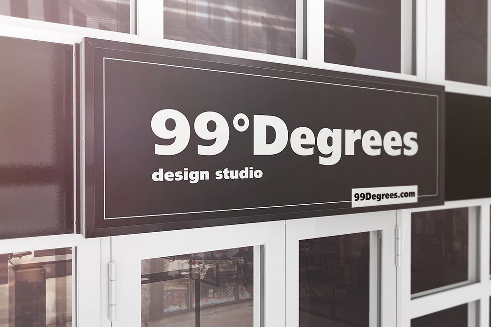 Building Advertising Signboard Mockup example image 1