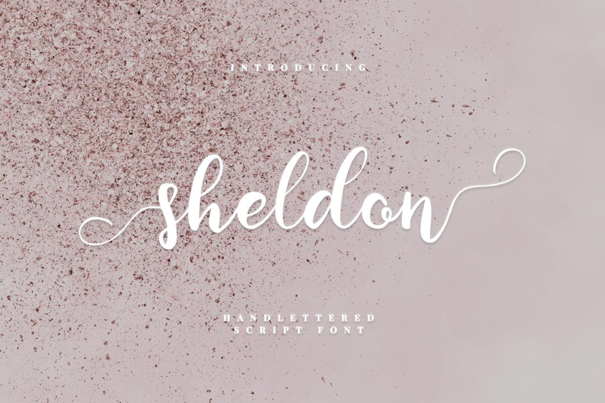 sheldon - script font example image 1