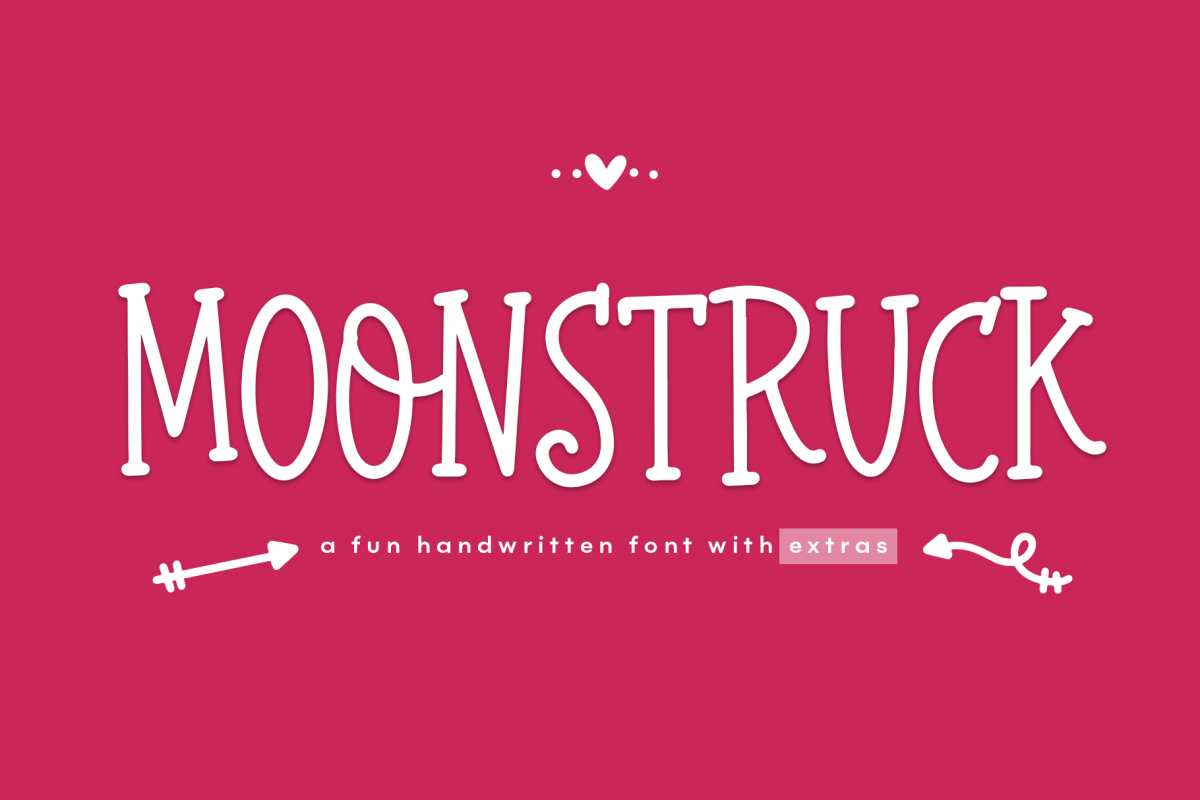Moonstruck - A Fun Handwritten Font with Extras example image 1
