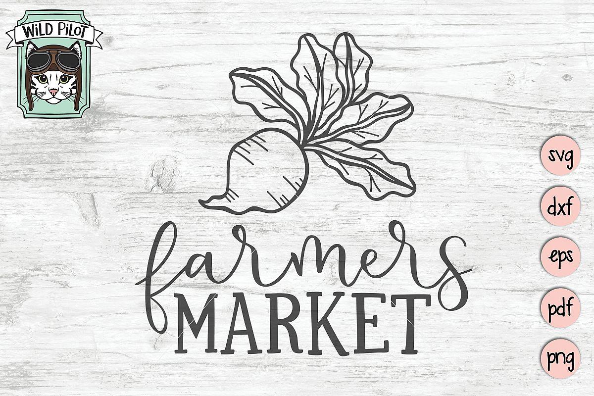 Farmers Market SVG, Farm Cut file, Kitchen, Vegetable, Beet example image 1