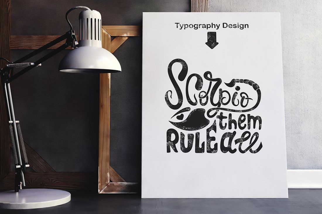 Scorpio Rule them all. Typography design. example image 1
