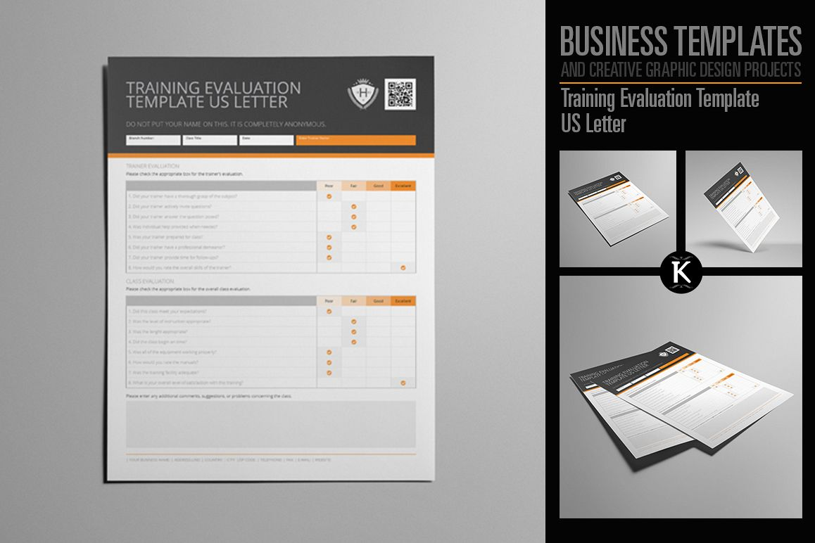 Training Evaluation Template US Letter example image 1