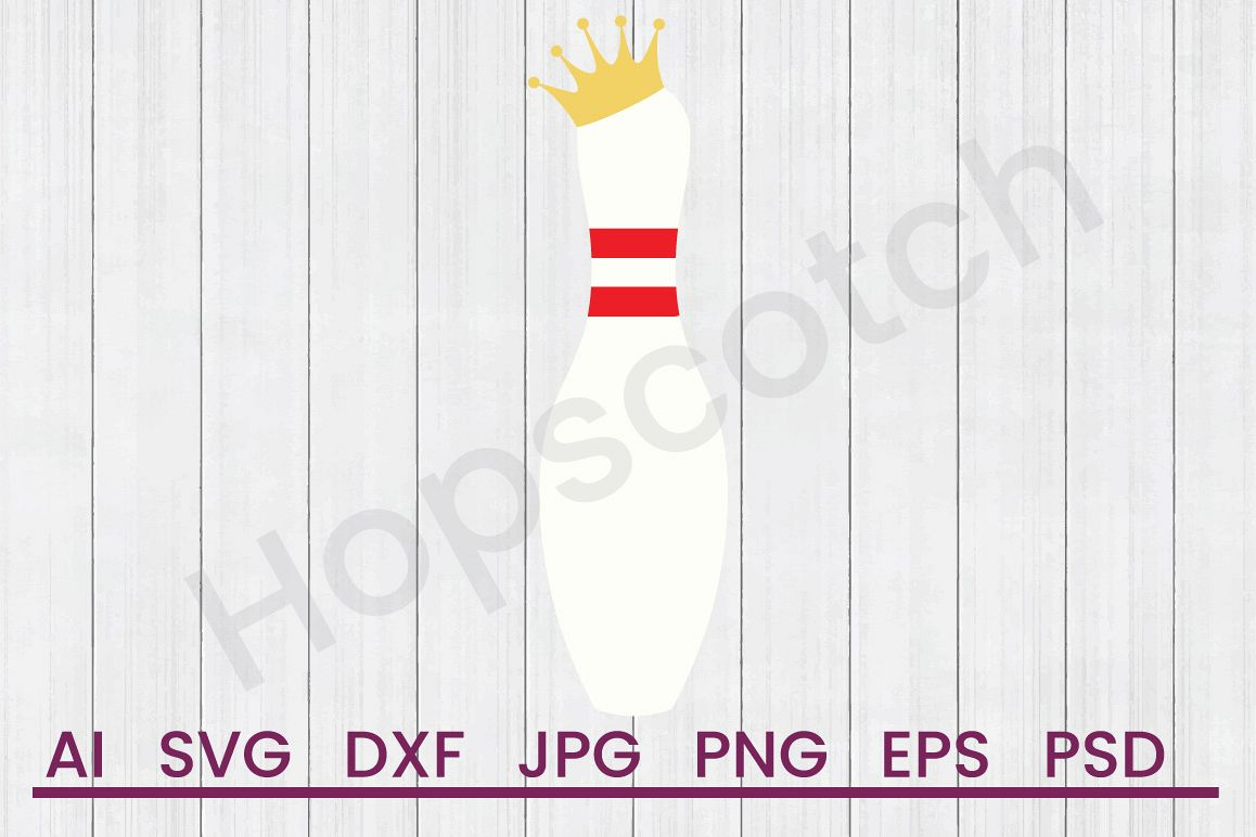 Bowling Pin SVG, DXF File, Cuttatable File example image 1