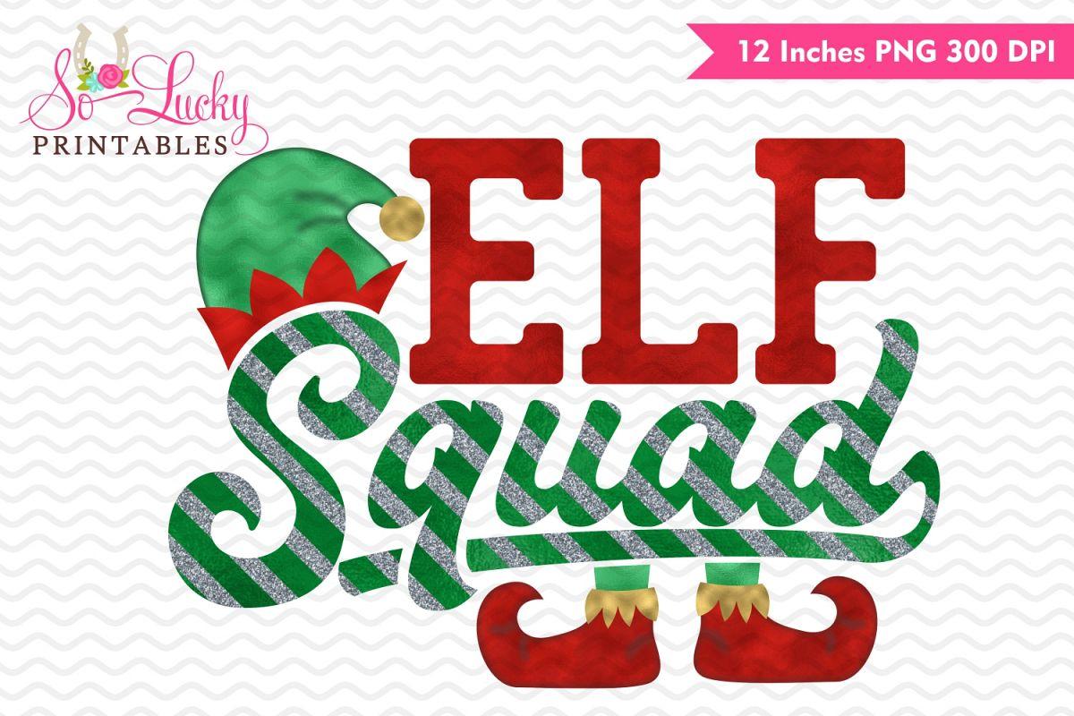 Elf Squad watercolor sublimation design example image 1