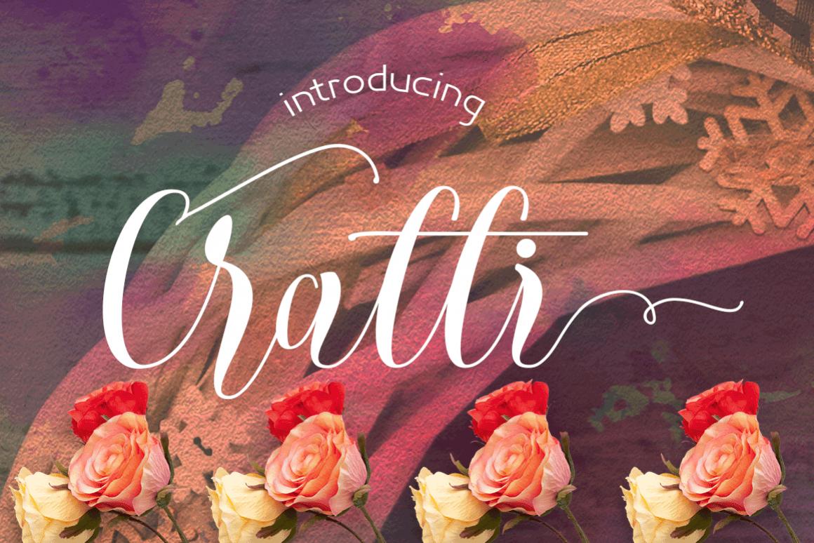 Cratti Script Font example image 1
