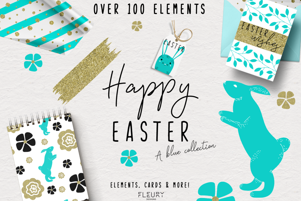 Happy Easter - a blue collection example image 1