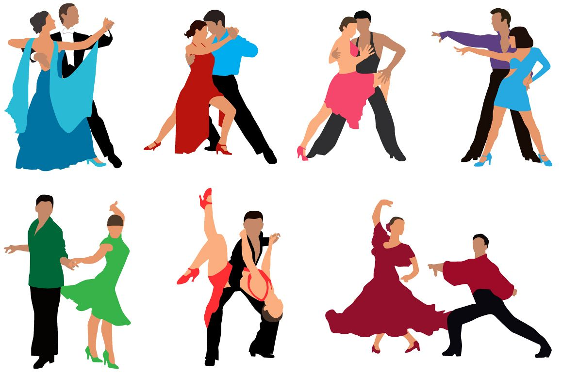 Dancing couples colour example image 1