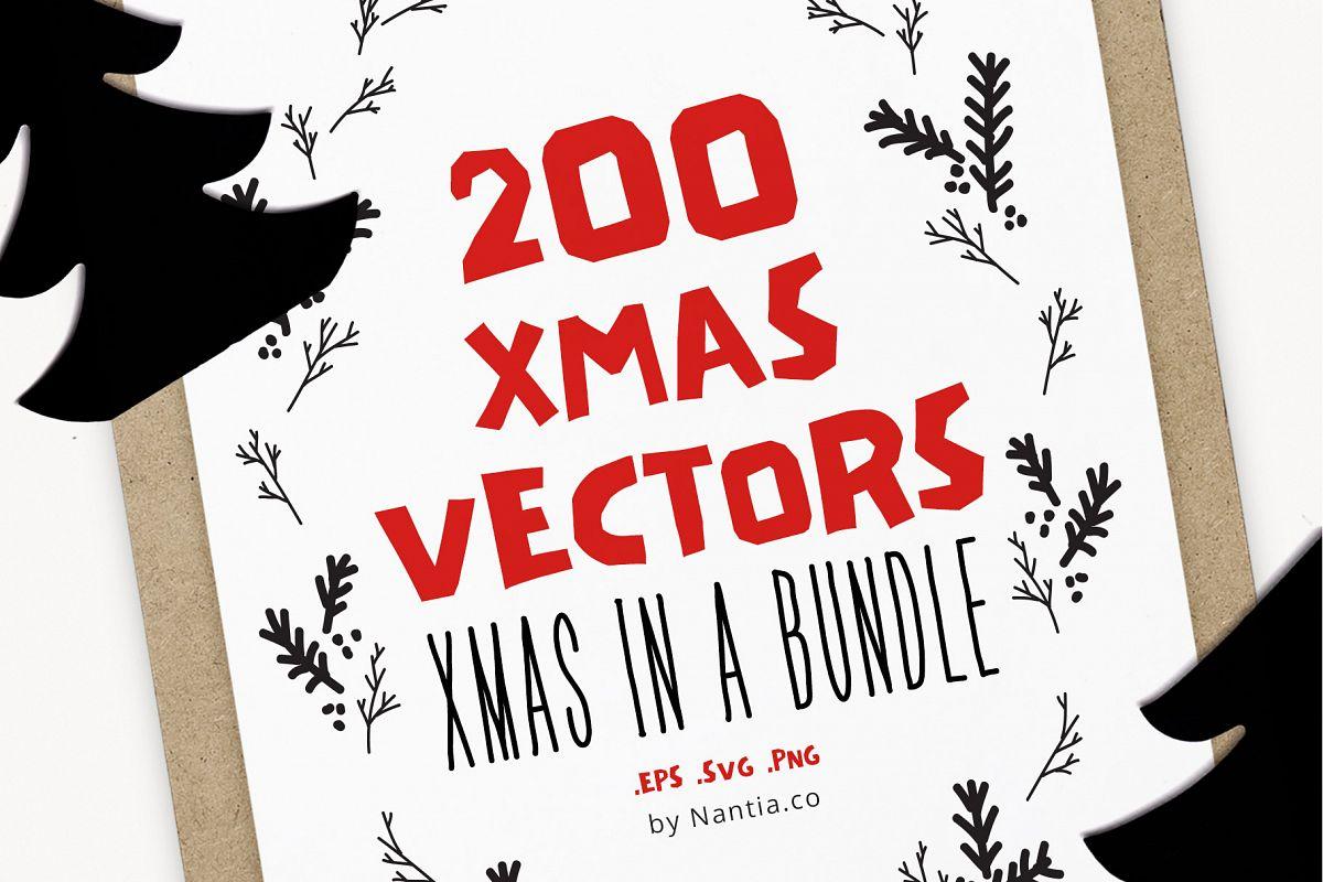 200 Items Christmas Bundle example image 1