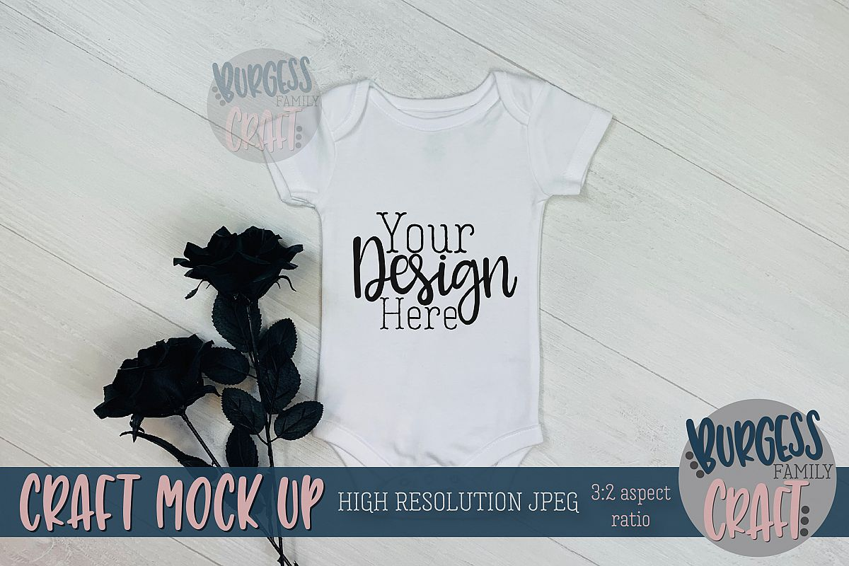 Halloween baby bodysuit Craft mock up | High Res JPG example image 1