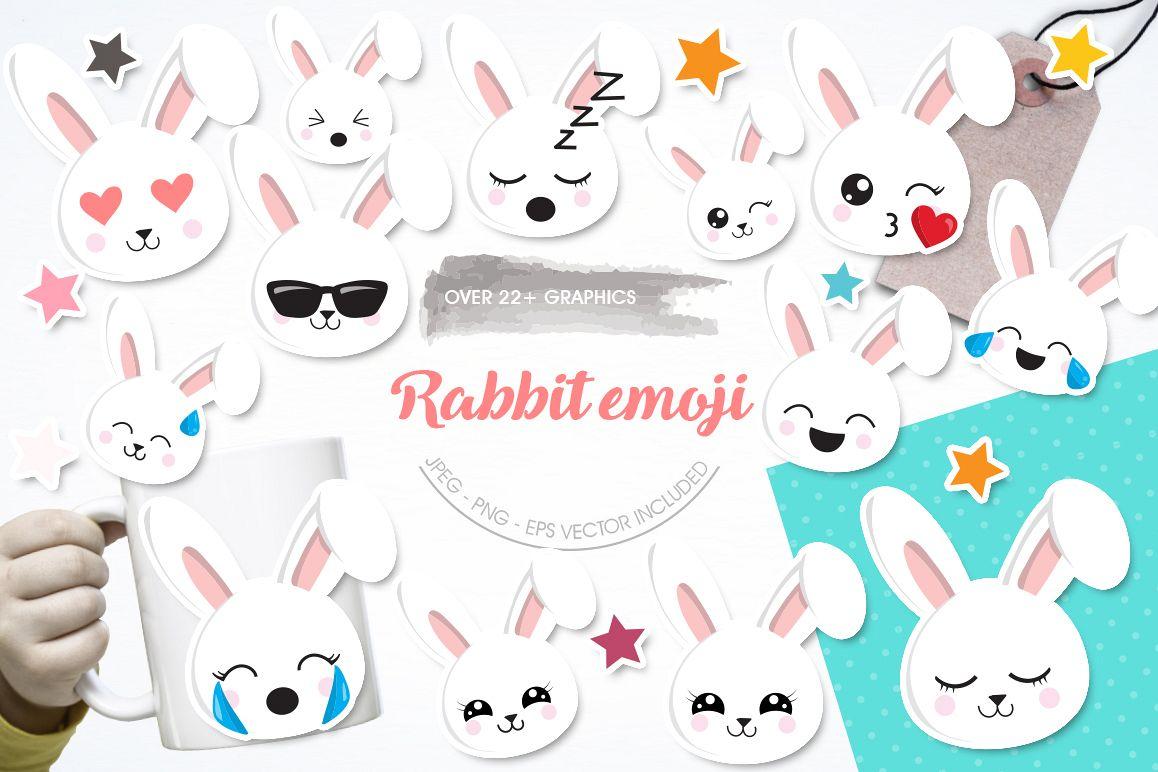 Rabbit Emoji graphic and illustrations example image 1
