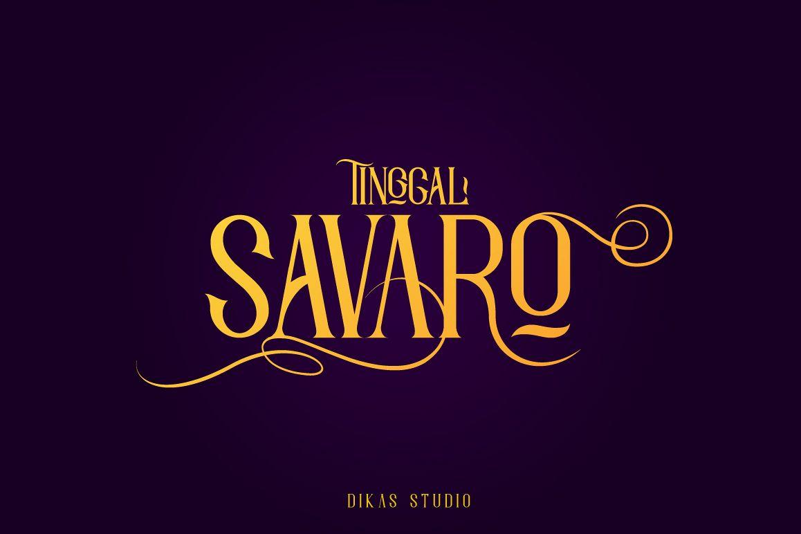 Savaro Typeface example image 1