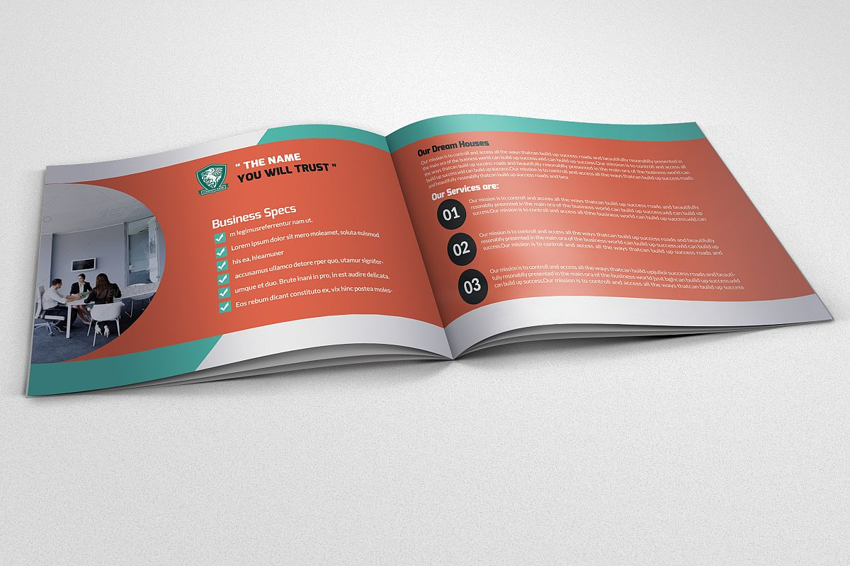 4 Pages Employment Business Bifold Brochure example image 1
