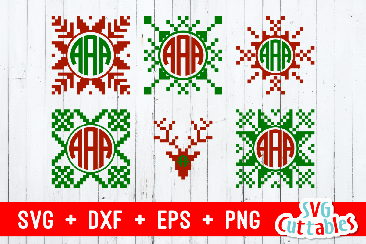 Christmas Sweater monogram frames