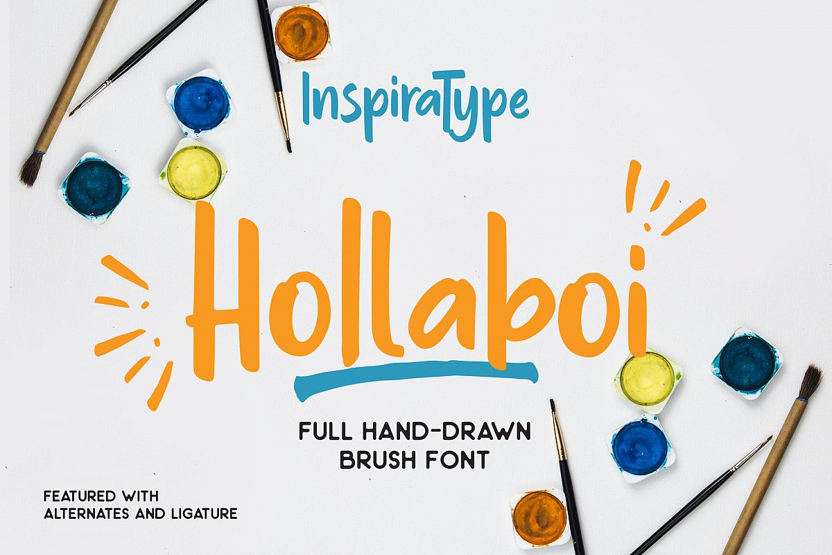 Hollaboi - A Hand-Drawn Brush Font example image 1