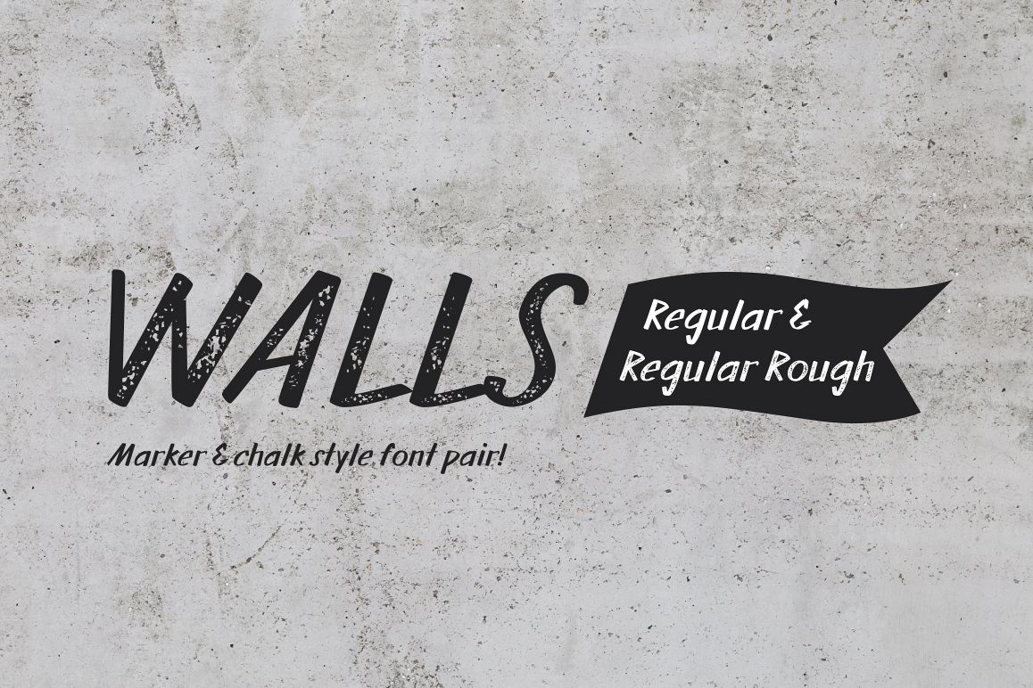 Walls Regular & Walls Rough Regular example image 1
