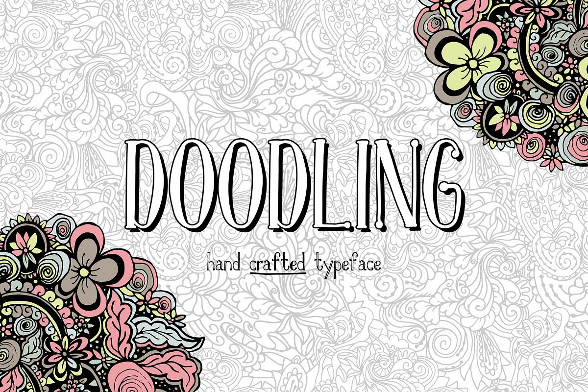Doodling - hand crafted typeface example image 1