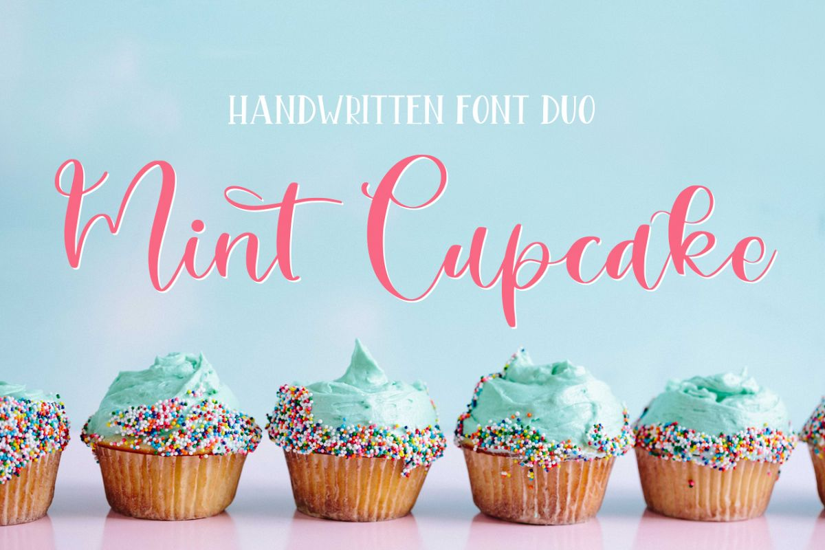 Mint Cupcake Font Duo example image 1