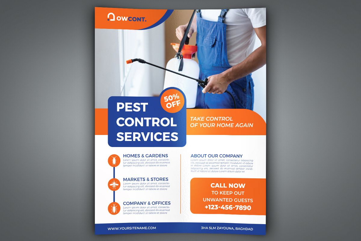 Pest Control Services Flyer Template example image 1