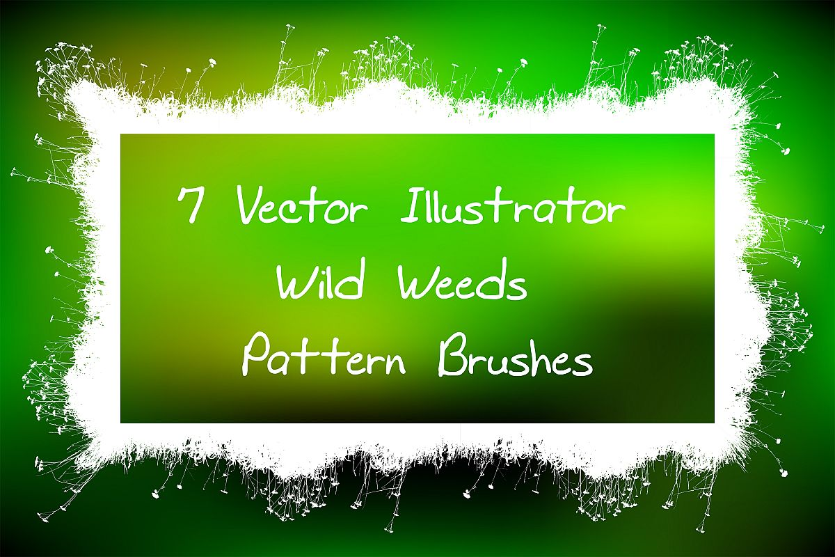 Wild Weeds-Natural Eco Grass Illustrator Pattern Brushes example image 1
