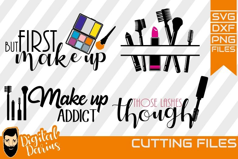 4x But first Make up svg, Mascara svg, Cricut, vector, Brush example image 1