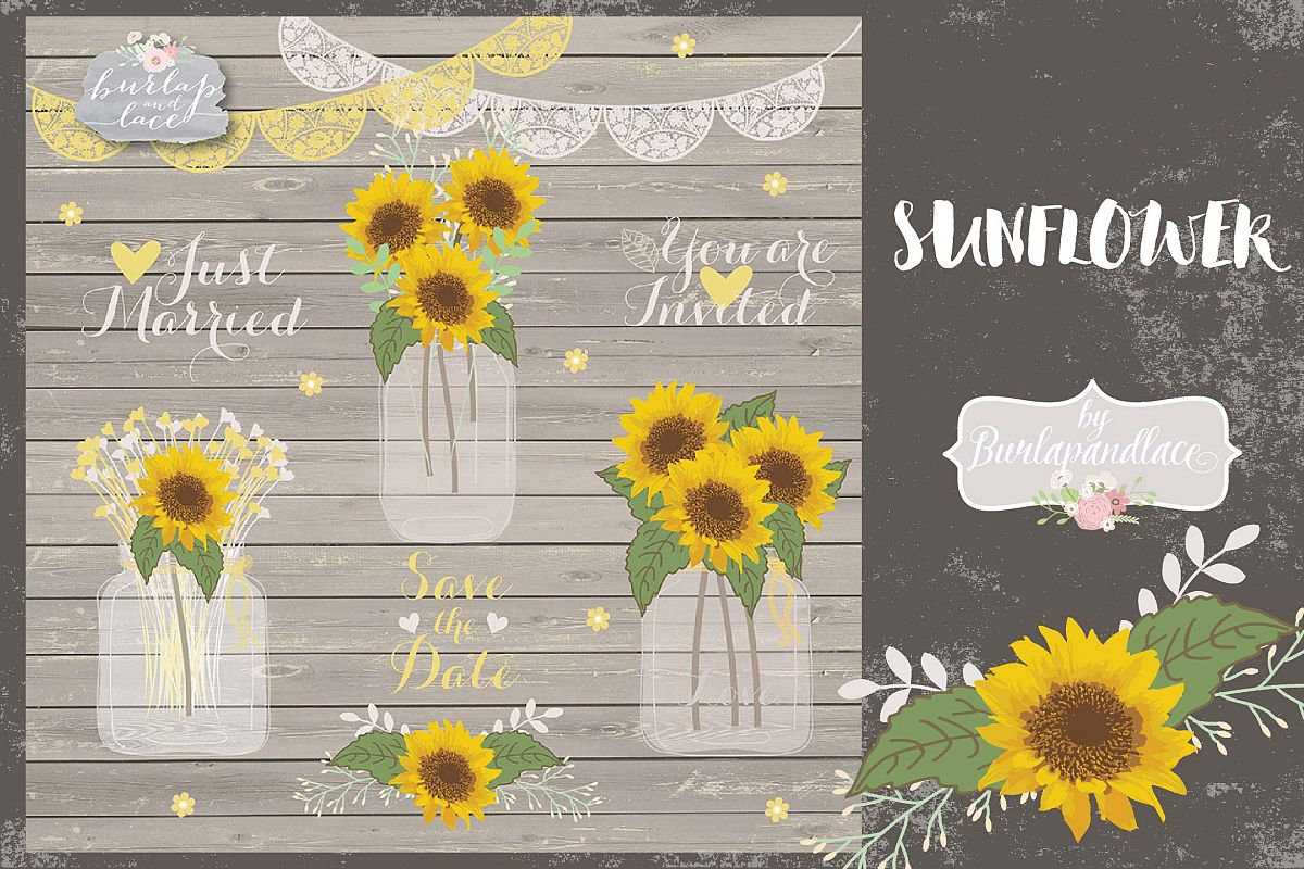 Vector sunflowers example image 1
