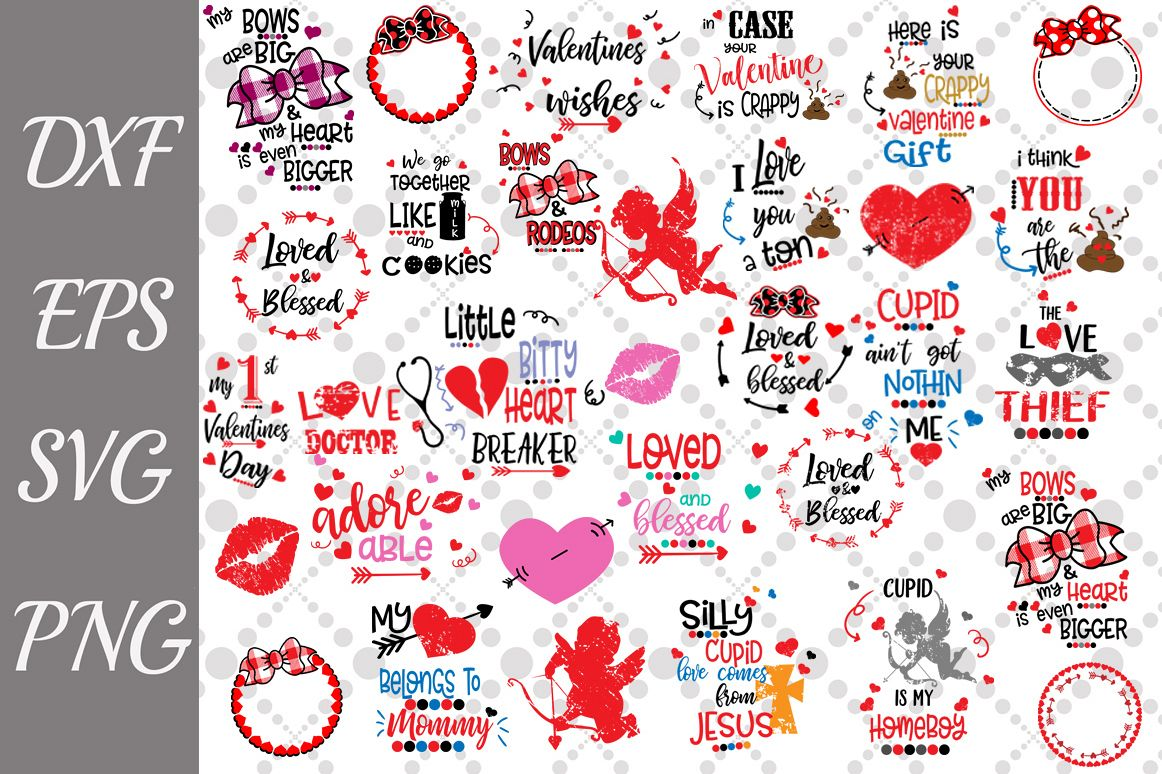 Valentine's Day Bundle Svg,Funny Valentines Quotes Svg example image 1