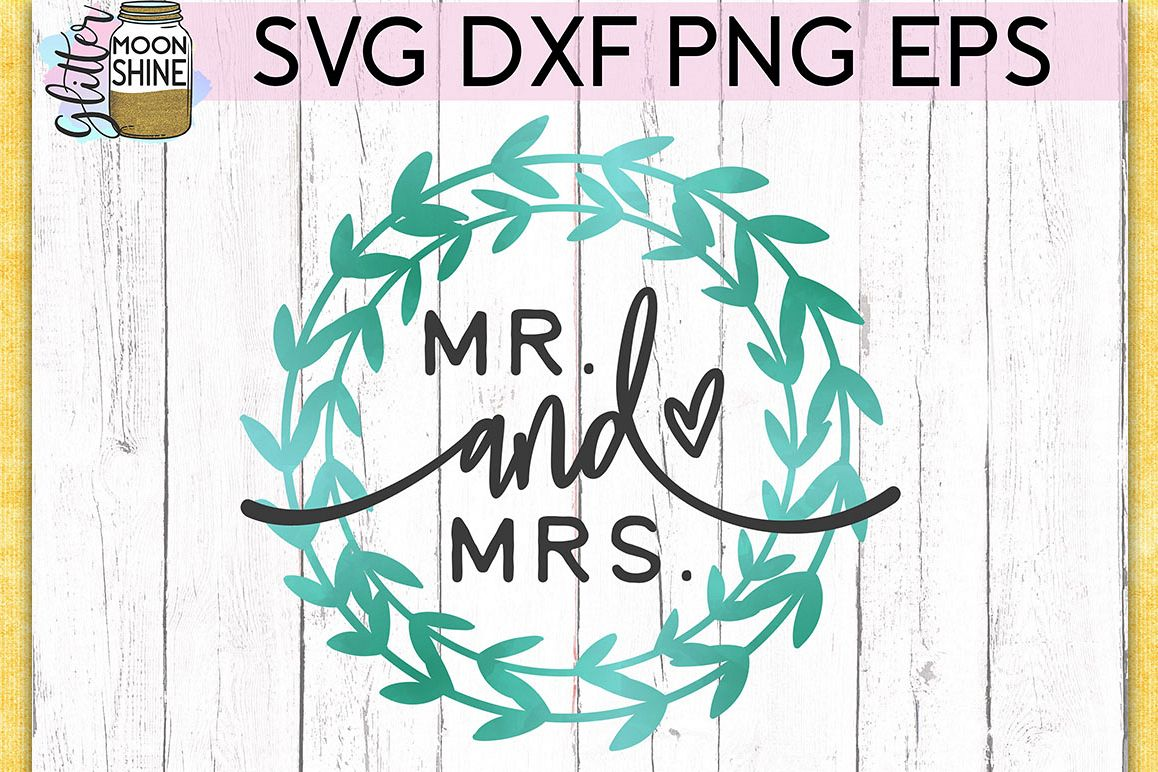 Mr. And Mrs. SVG DXF PNG EPS Cutting Files example image 1