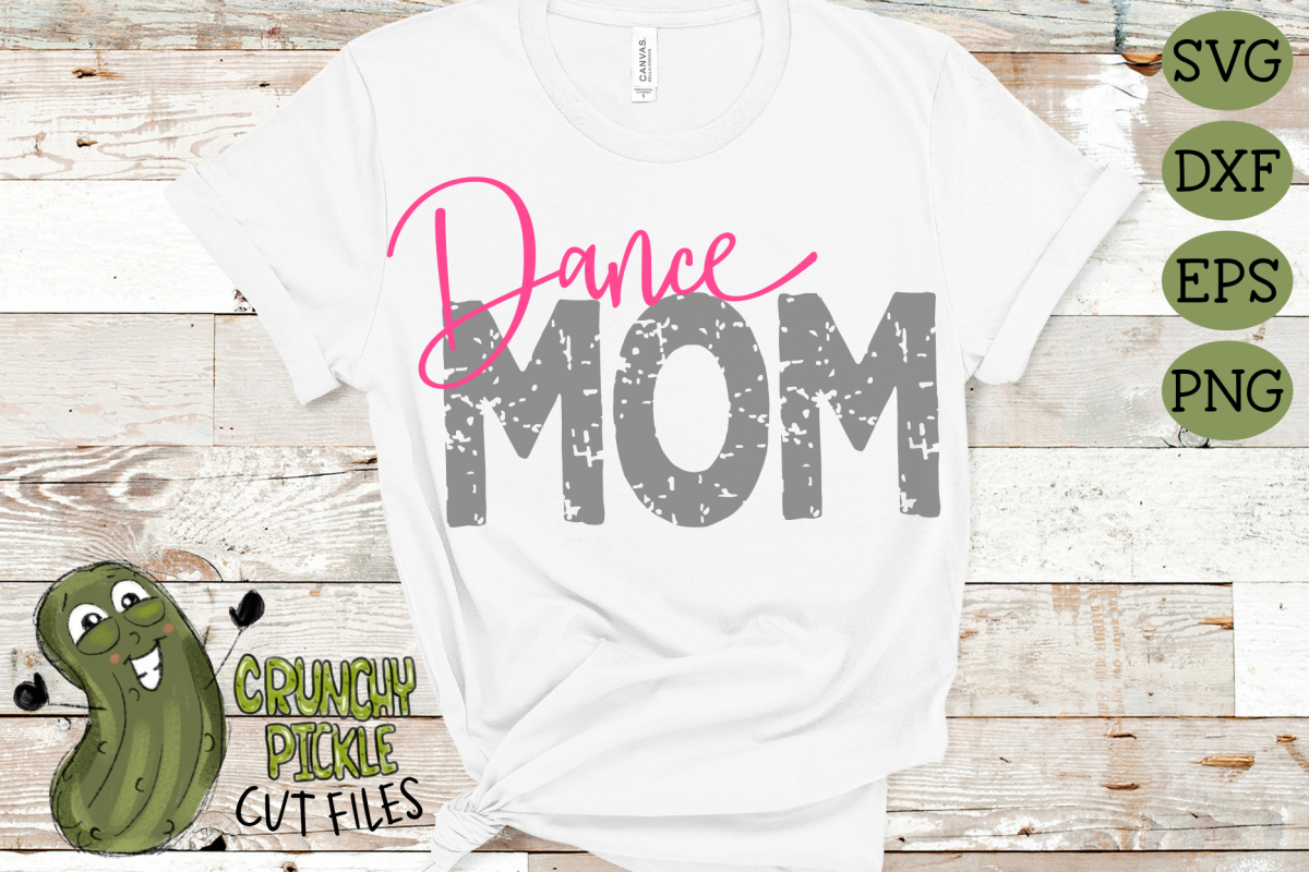 Dance Mom & Bonus Team Dancer Mom Sports SVG Cut File example image 1