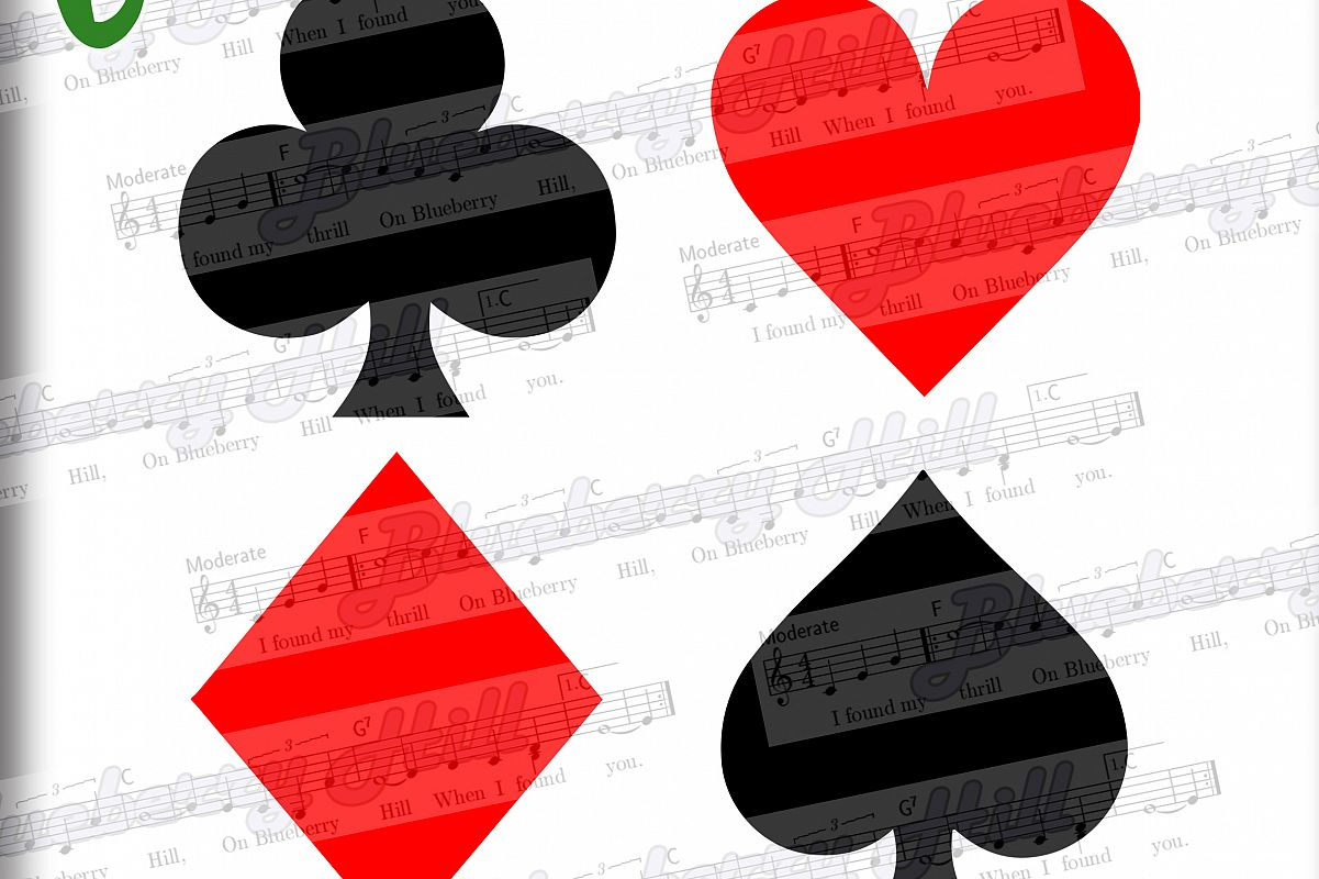 Card suits svg - Playing cards SVG - Dices SVG file example image 1