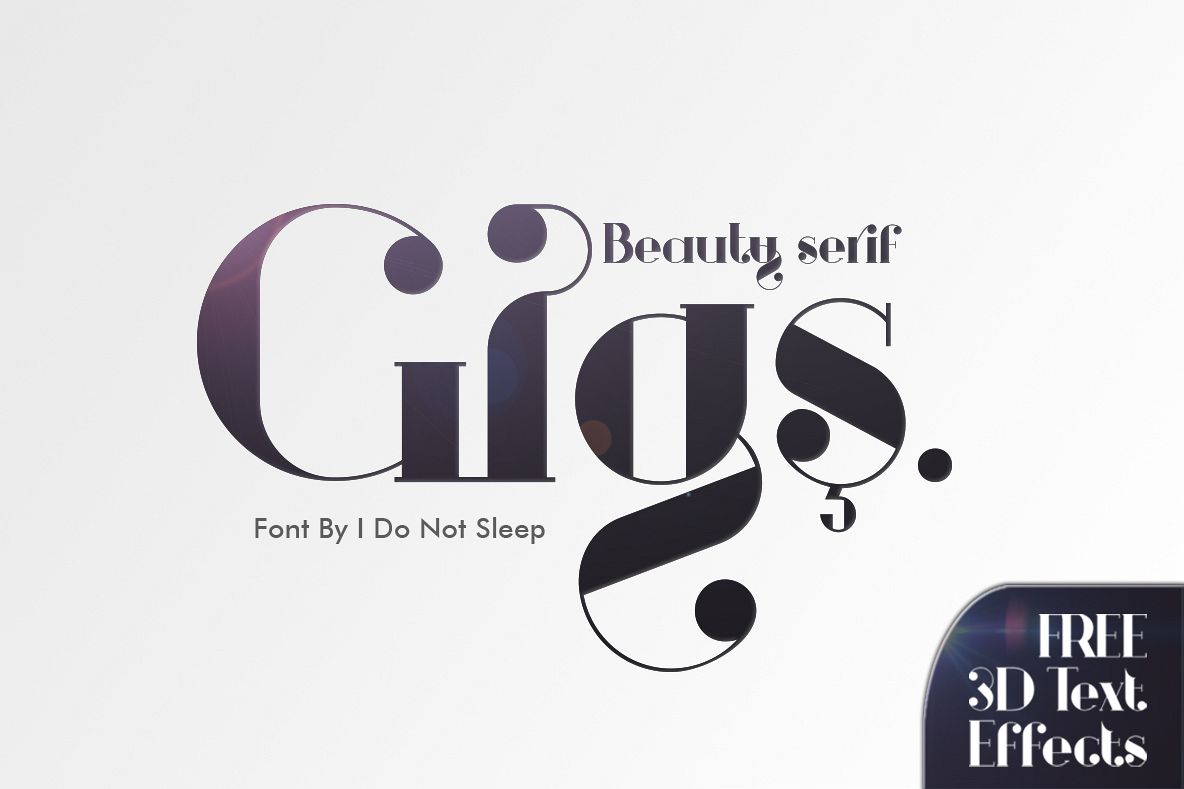 Gigs Beauty Serif Font example image 1