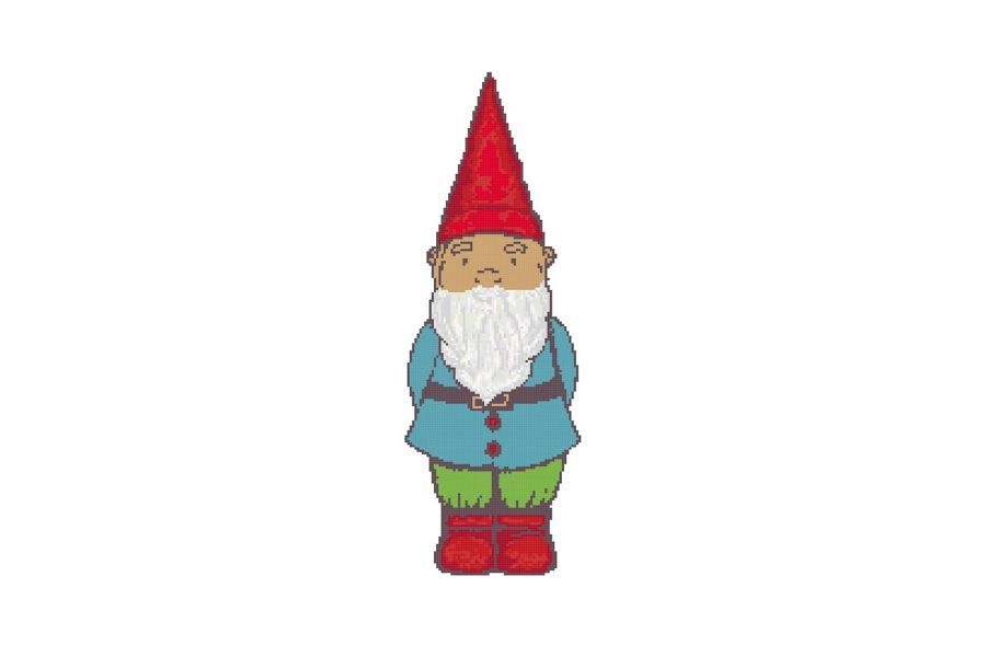 Quick & Easy Garden Gnome Cross Stitch Pattern example image 1