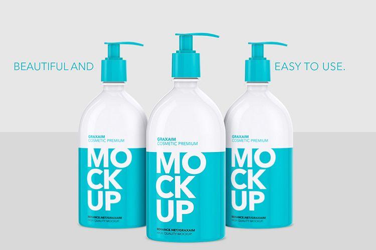 Mockup - Shampoo Bottle with Lotion Pump 500ml example image 1