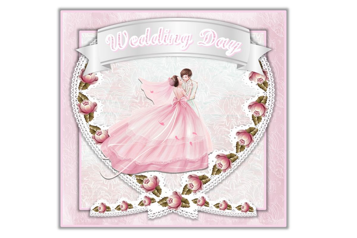 SVG Wedding Card All Components Cuttings Files PNG and SVG example image 1