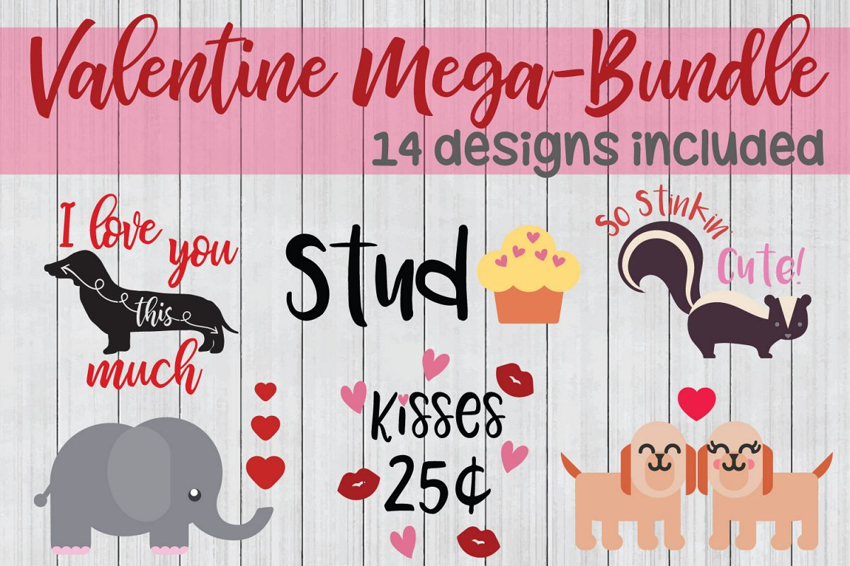 Valentine SVG Mega Bundle, Love SVG Bundle example image 1