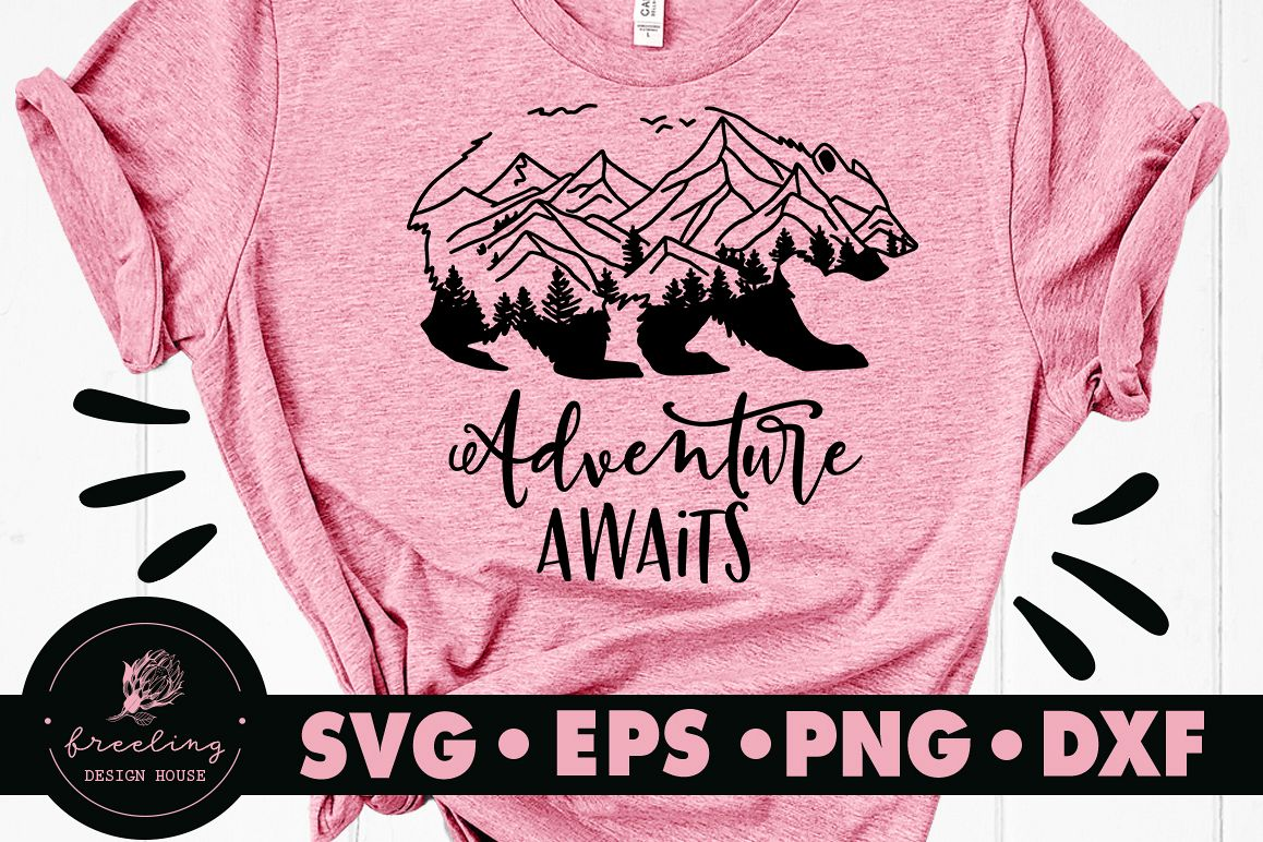 Adventure Awaits SVG DXF EPS PNG example image 1