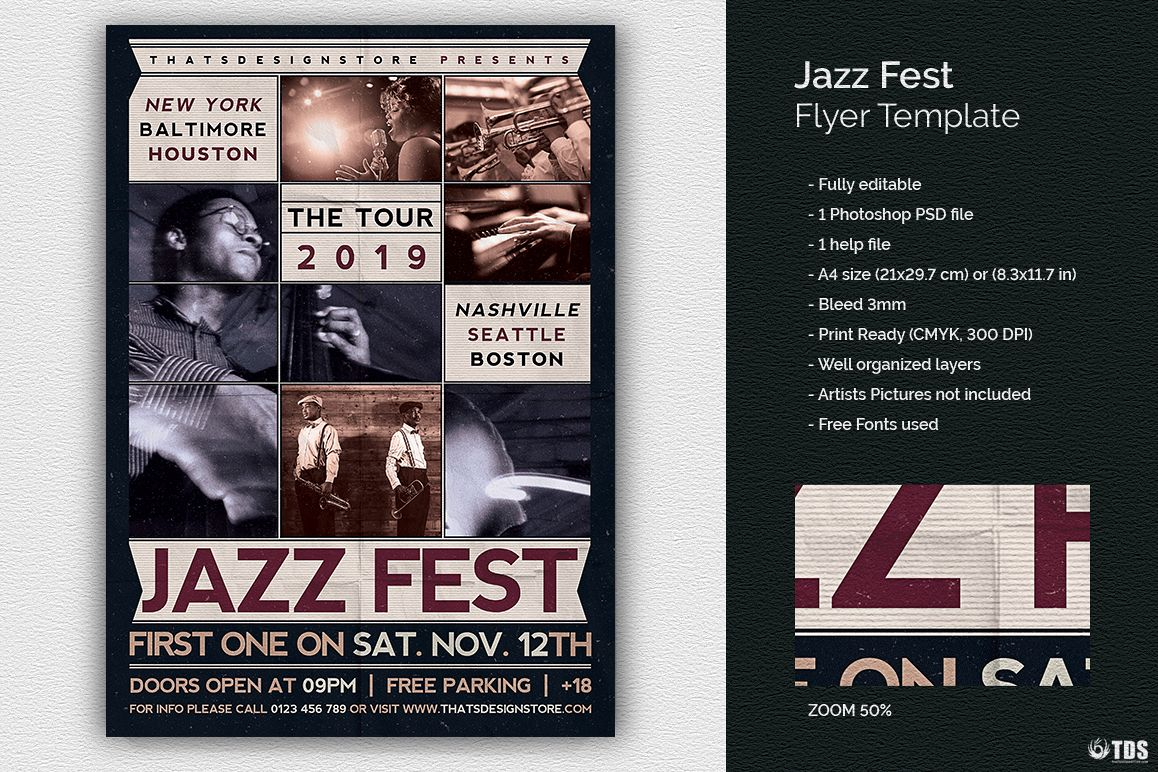 Jazz Fest Flyer Template example image 1