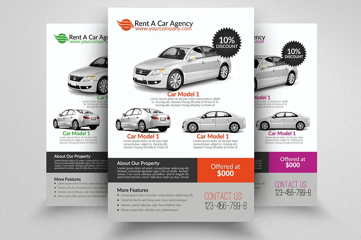 Rent A Car Flyer example image 1