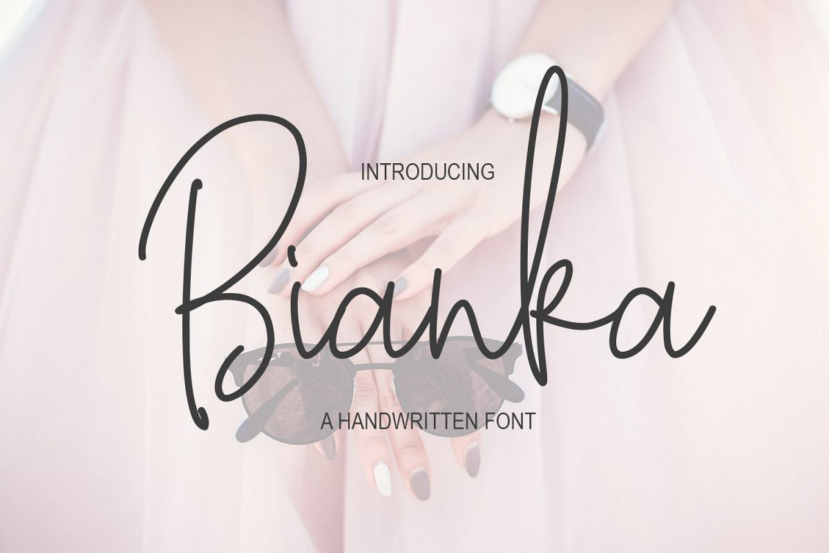 Bianka Script Font example image 1