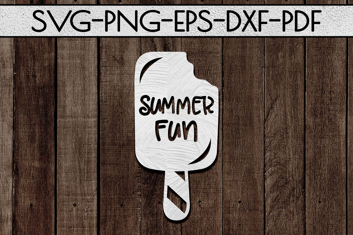 Summer Fun Papercut Template, Beach House Decor SVG, DXF example image 1