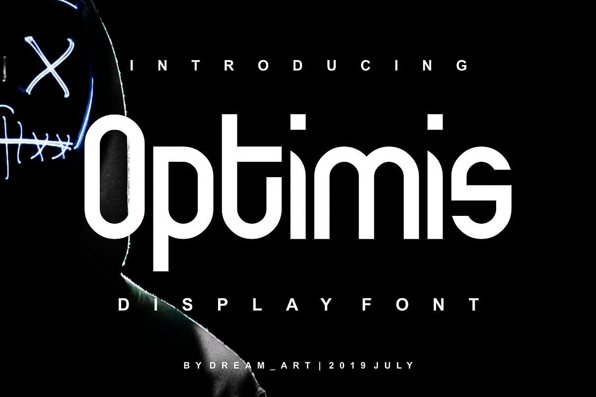 Optimis - Bold Font example image 1