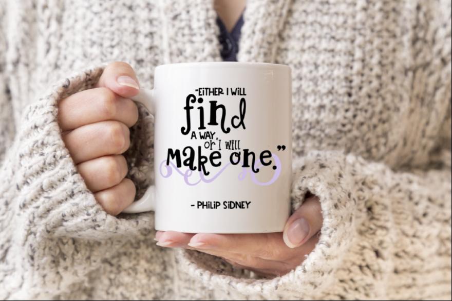 Motivational Quote Digital Print / Clip Art / Cut file example image 1