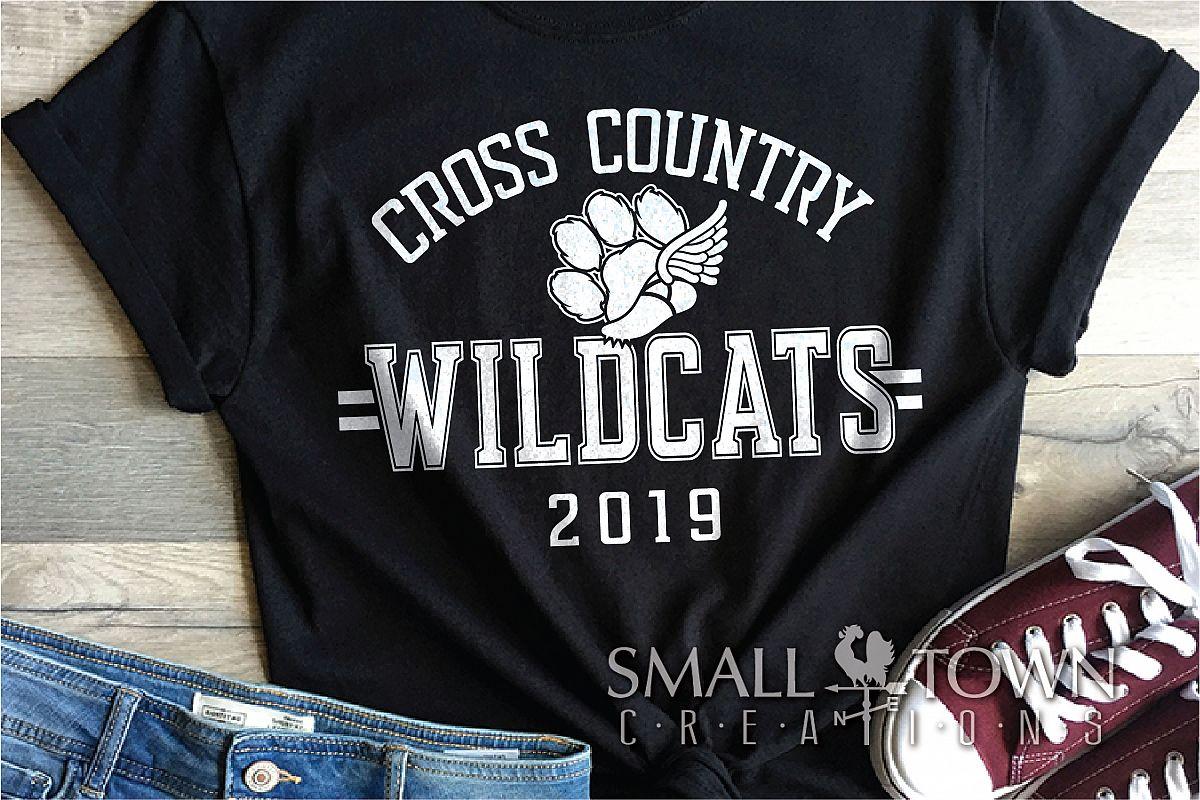 Wildcat Cross Country, Paw Print, PRINT, CUT & DESIGN example image 1