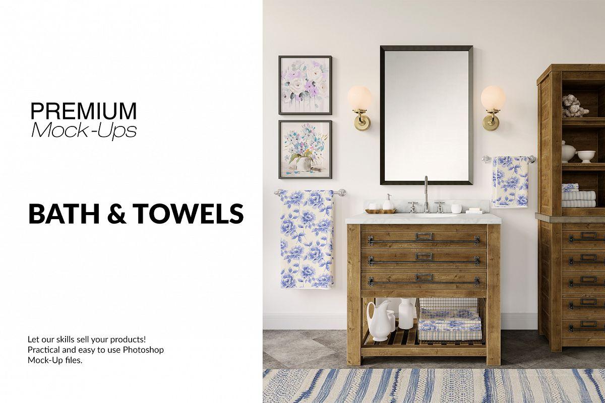 Bath Towels Mockup Set example image 1