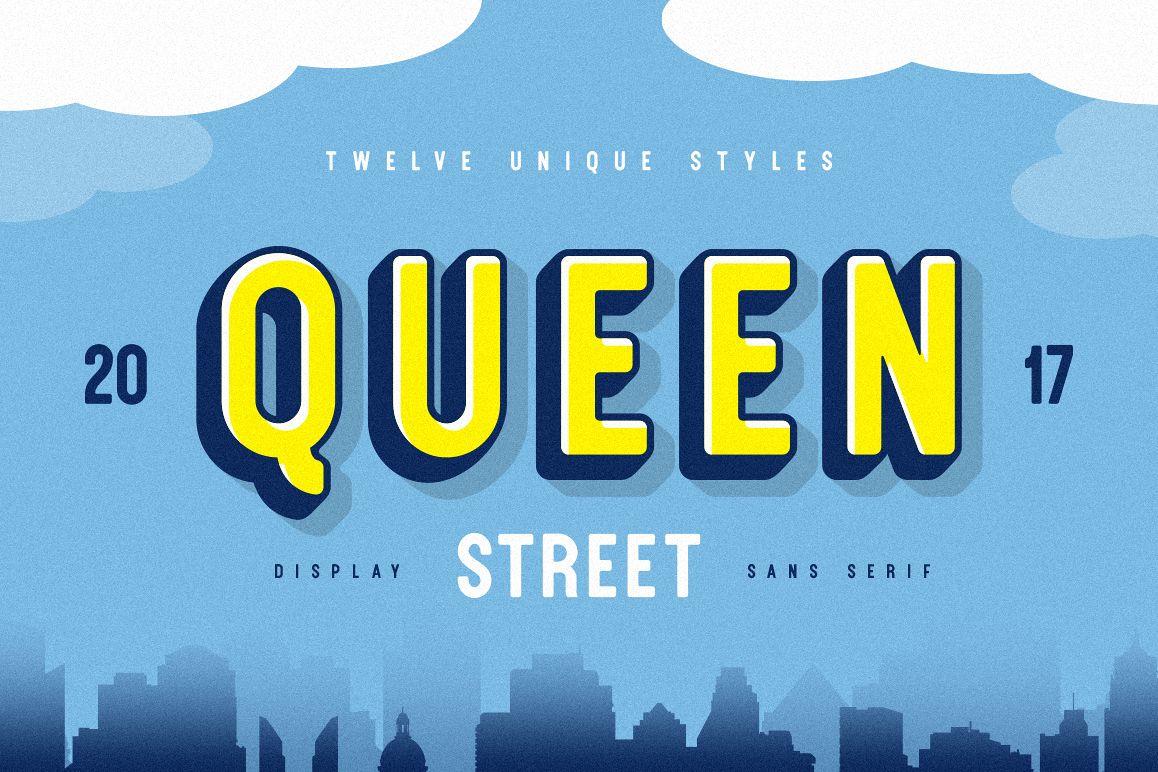 Queen Street Display Font example image 1