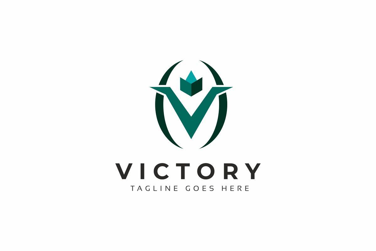 Victory V Letter Logo example image 1