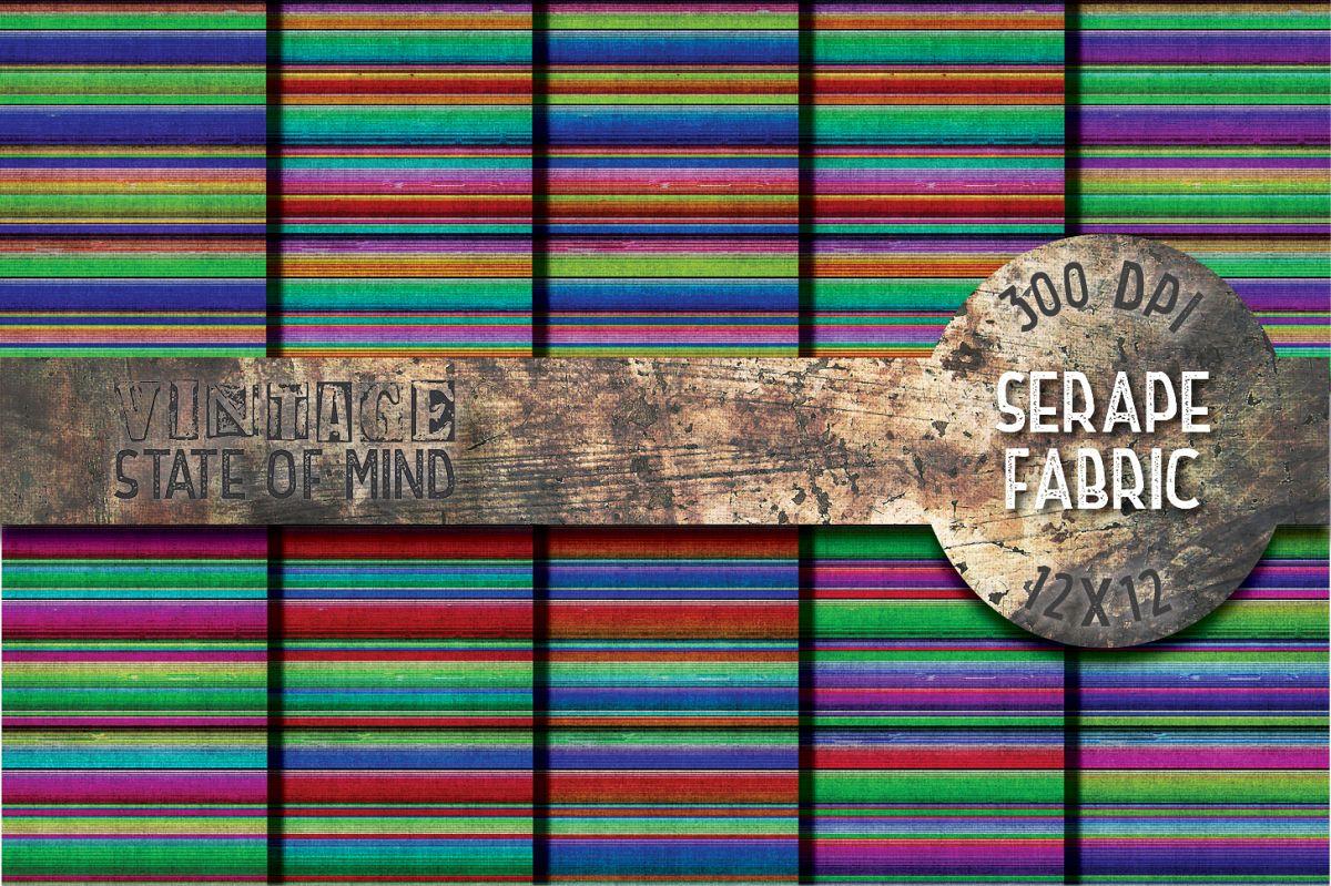 Serape Fabric Digital Papers example image 1